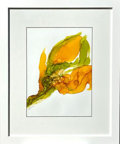 Blooms of Gold II framed