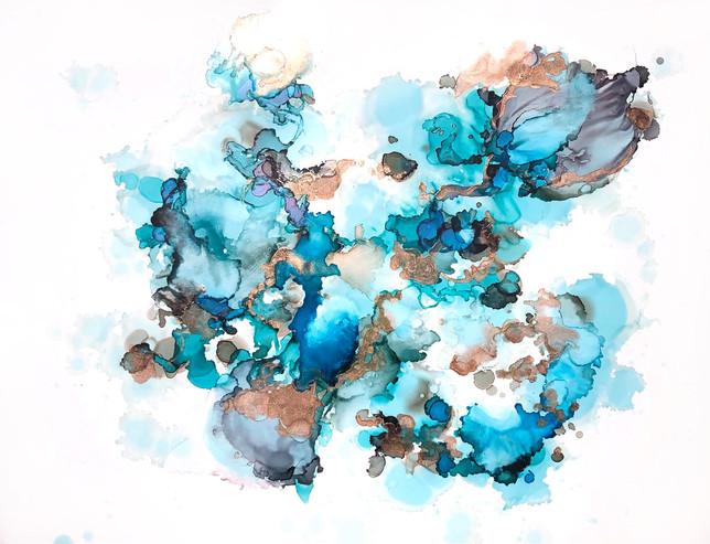 """Big Dreams 18 -Big Blues Copper -11x14"""""""