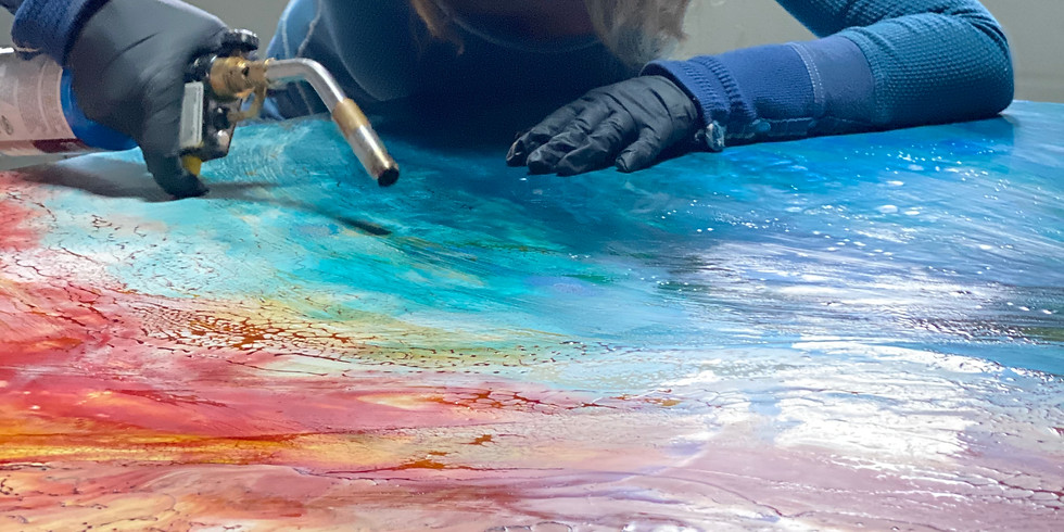 """2-Day Workshop Encaustic for Beginners – """"Paint with Fire"""""""
