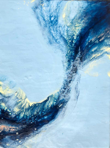 "Energy Follows Consciousness in Blues III  - 20x24"""