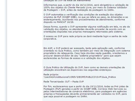 Utilização do SVP na Rede de Atendimento : Urgente!