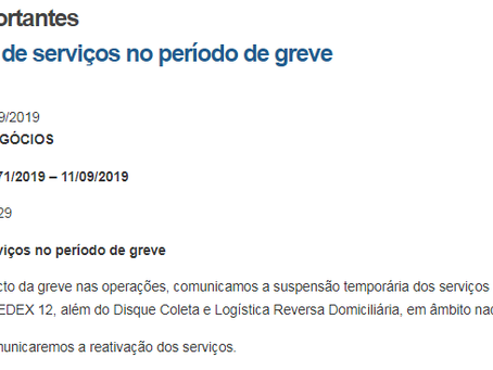 Suspensão de serviços no período de greve