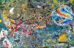 Chaos and Rebirth 20x30 Mixed Media