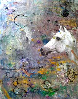 untitled 11x14 mixed media on canvas $75