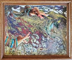 Gypsy Hands framed