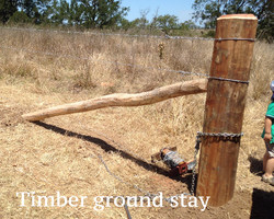 Timber ground stay