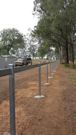 100mm square posts with cattle rail