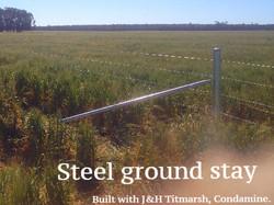 Steel ground stay