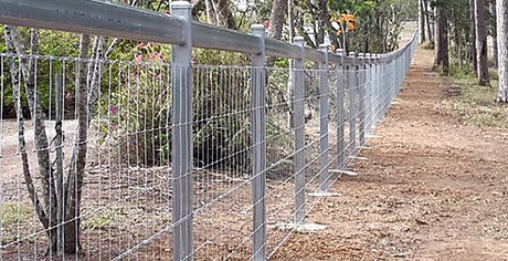 Steel posts and rails