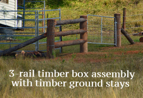 Timber box assembly and ground stay