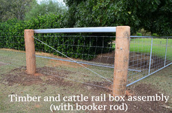 Timber and cattle rail box assembly