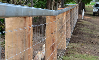 Split post and wire fencing