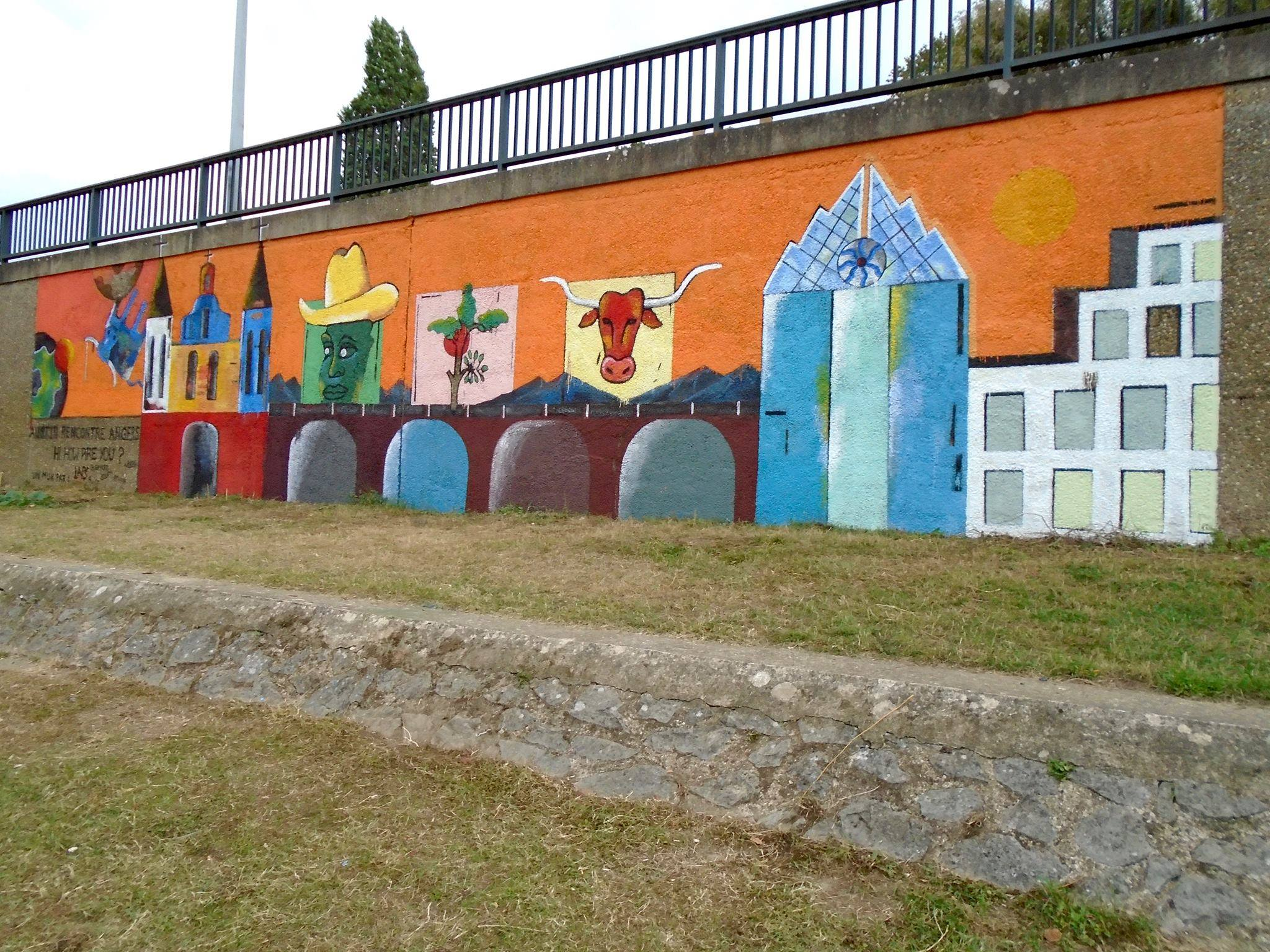 Finished Mural in Angers, France