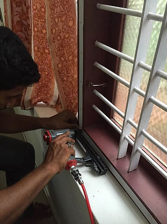 window mosquito net installation in kannur, mosquito net windows in kannur