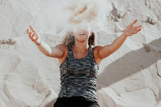 jeter du sable