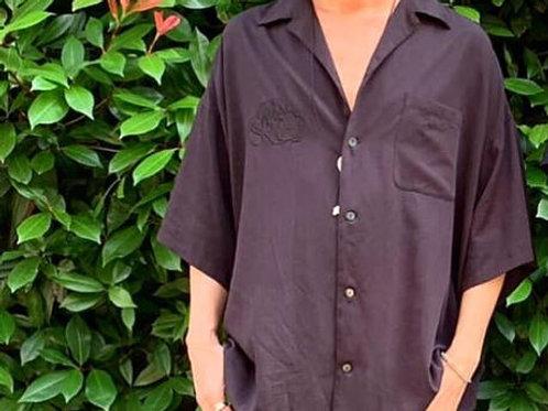 半袖開襟シャツ 刺繍あり  展示サンプル