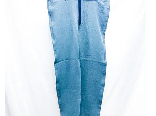 イージーパンツ リネン BLUE