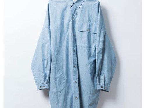 BIGシャツコート シャンブレー