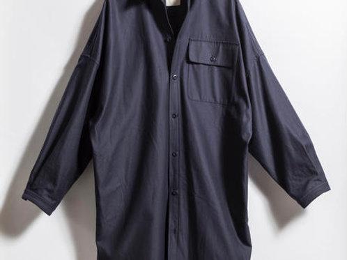 BIGシャツコート NAVY 展示サンプル