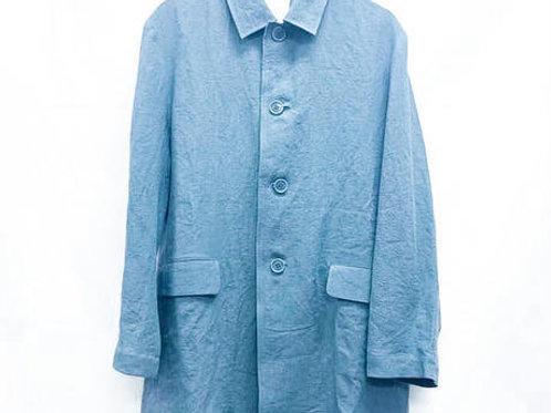 ステンカラージャケット リネン BLUE