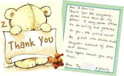 Thank you card from patient - 2017