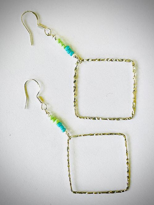 Dia Aqua Sterling Silver Earrings