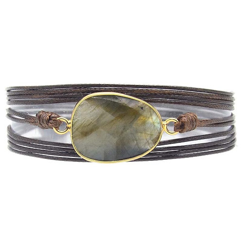 NEW Nia Natural Stone Charm Wrap Bracelets