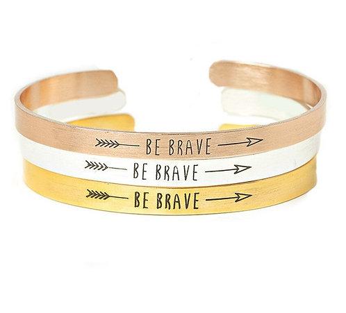 Inspiration Be Brave Cuff Bracelet