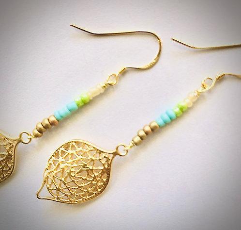 Fiora 14K Gold Marquie Earrings