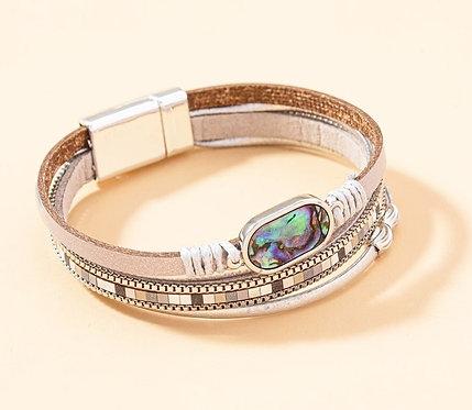 Abalone Multi Layered Bracelet