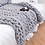 Thumbnail: Chenille Chunky Knitted Blanket