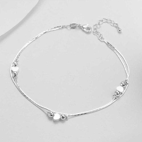 Heart Anklet 925 Sterling Silver Women Anklet Bracelet