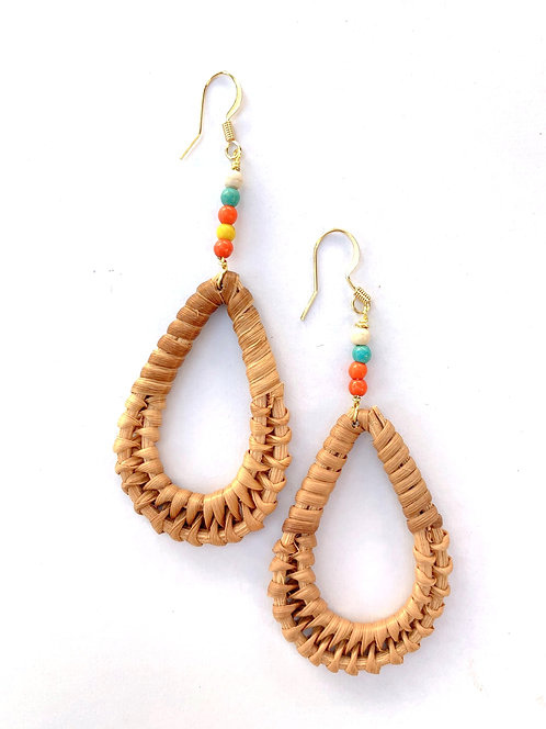 Rya Boho Tear Drop Earrings 14k