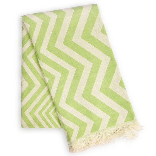 Lolo Eco-Friendly Ultra Soft Chevron Towel - Green