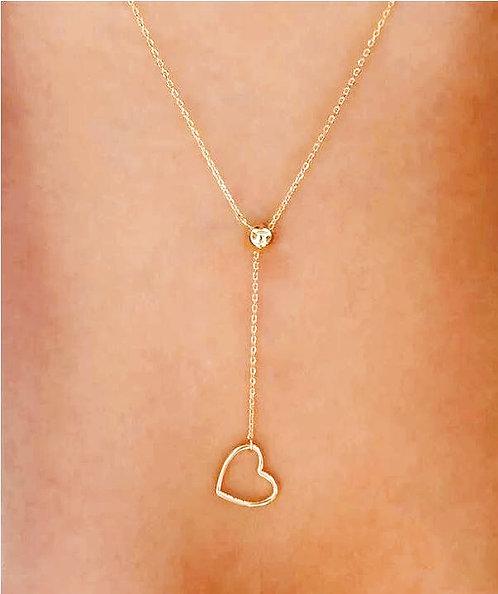 Heart Y-Lariat Necklace