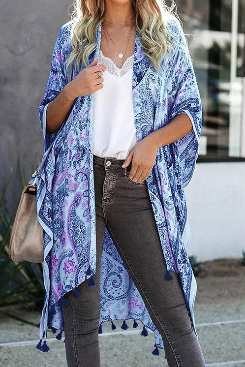 Pasha Kimono Cover up with Tassel