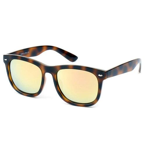 Gigi Classic Horned Rim Mirrored Lens Sunglasses