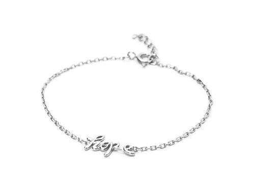 Hope Sterling Silver Charm Bracelet