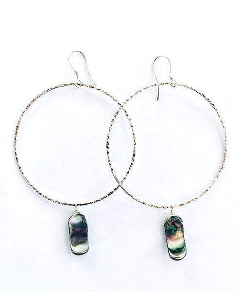 Ghia Abalone Hoop Earrings