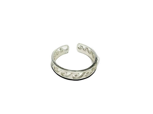 The Surfer Adjustable Wave Ring for Women Stainless Steel