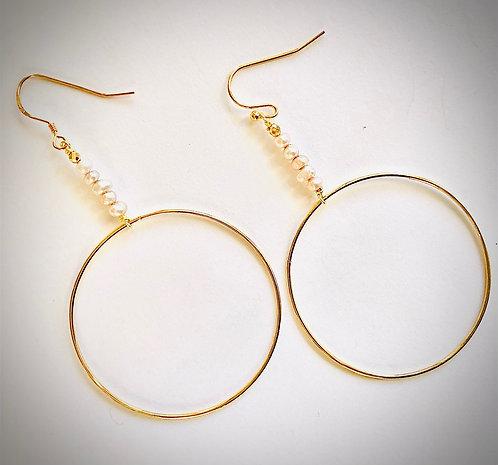 Perla 14K Gold Hoop Earrings