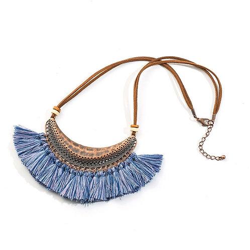 Moon Tassel Pendant Necklace
