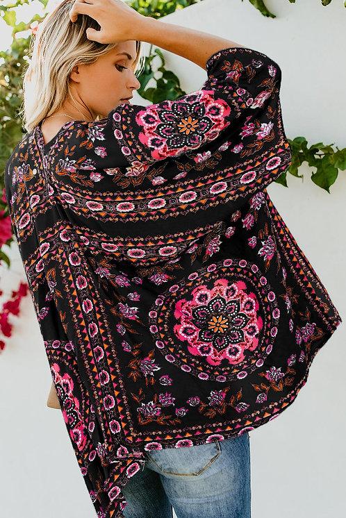 Pua Floral Boho Kimono