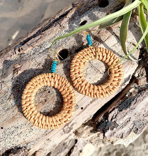 Raya Infinity Teal Earrings