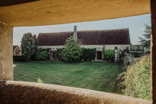 Rear face of the Tithe Barn