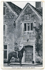 Front Door, Hinton St Mary Manor House