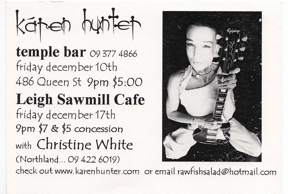 Show Poster, Karen Hunter