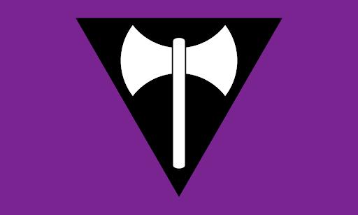 Sean Campbell's lesbian flag