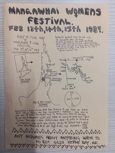 Mangawhai Womens Festival poster