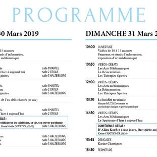 PROGRAMME FORUM 30 et 31 mars 2019  Grand Sauvoy 17 Avenue de Metz 54320 MAXEVILLE
